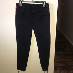 Forever 21 Pants - Forever 21 Black Skinny Jeans with a Red Accent